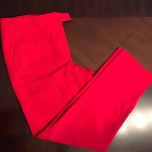 Red trousers - slim fit for comfort